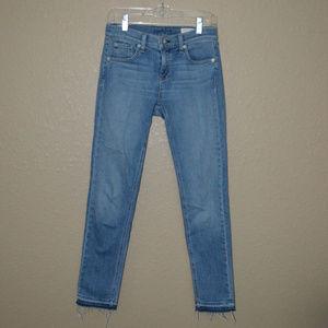 Sz 26 Rag & Bone Rove Blue Skinny Jeans